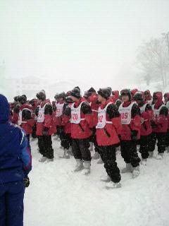 スキー学校開校式